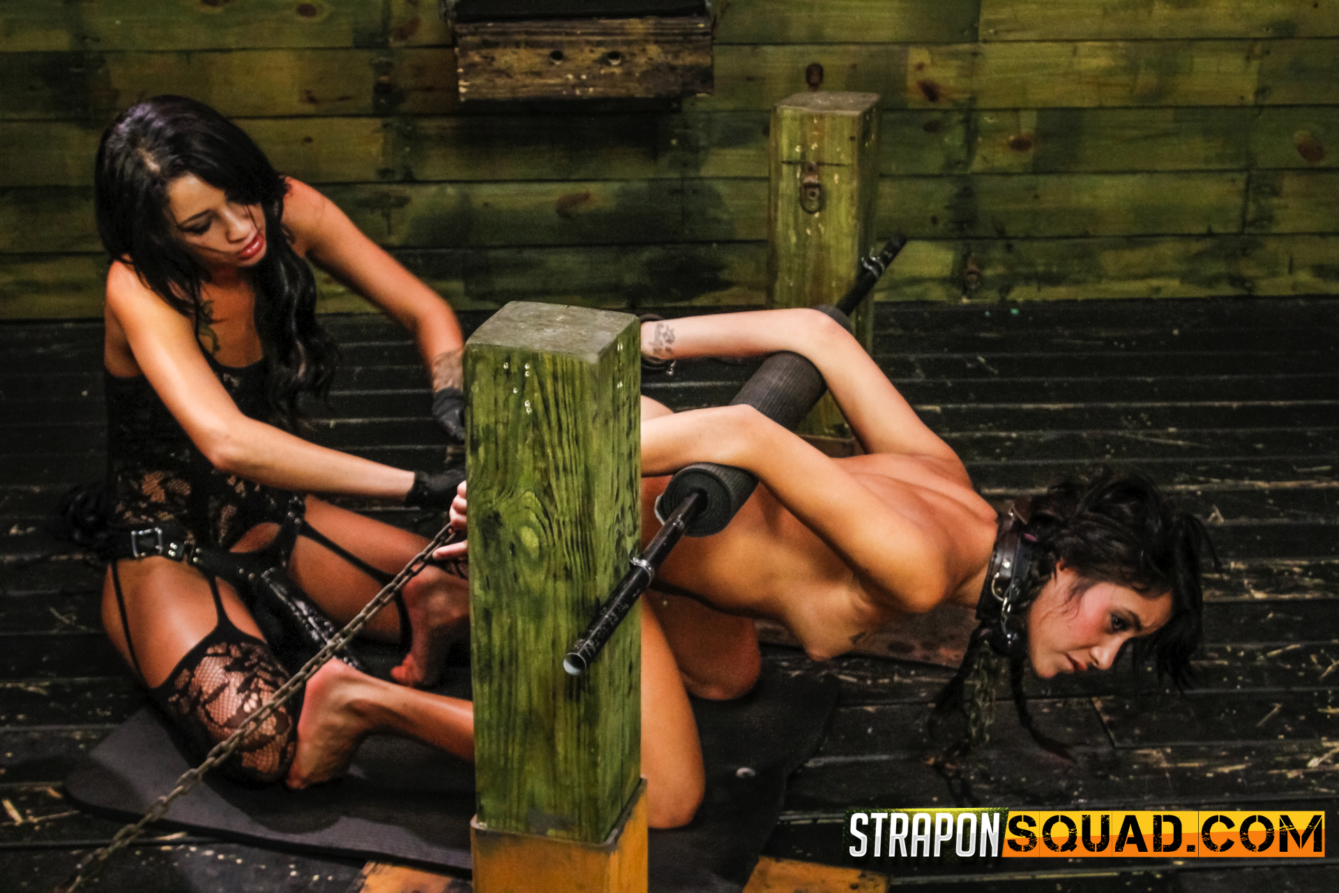 Sapphic domination and squirting with marina angel and esmi lee. Dominatrix Esmi Lee is quite cute at having hardcore BDSM fun with bondage, sybian fuck machine, rough sex, spanking, slapping tits, biting nipples, smacking, whipping, deep penetration, constant orgasms and more sex toys. The ending to this particular video will make you dick explode. Esmi squirts all over her obedient slut's face, making Marina drink every last drop.